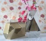 多邊形不鏽鋼鏡面盆景花盆 不鏽鋼花瓶 耐氧化 耐腐蝕