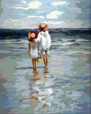 油畫-看海