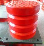 瀋陽緩衝器廠家 JHQ-C-7聚氨酯緩衝器價格 125*100 法蘭盤式緩衝器