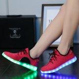 外貿爆款LED鞋usb椰子燈鞋男女童運動鞋七彩發光板鞋夜光熒光鞋