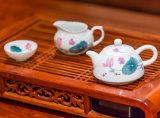 【銀銀瓷器】醴陵陶瓷工藝品飄香茶具套裝泡茶器手工釉下五彩瓷茶具定製