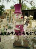 玻璃鋼卡通動漫玩偶雕塑商場迎賓