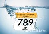 田徑運動員號碼牌布 杜邦紙號碼牌定做 數位號印彩色