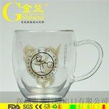 玻璃雙層杯廠家雙層玻璃咖啡杯耐熱玻璃茶杯