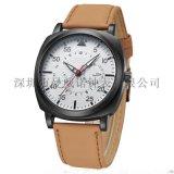 男女款時尚韓版磨砂面手錶防水多功能真皮錶帶石英錶