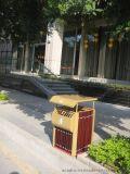 供應高檔 實木戶外垃圾桶 酒店垃圾桶 單桶