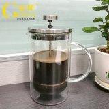 定製耐高溫雙層玻璃法式衝壓壺歐式咖啡壺玻璃沖茶器