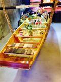 楚風木船出售雲南譚木匠船吧檯木船木質裝飾船