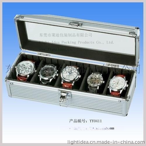 五格手錶盒 手錶收納盒 玻璃面鋁合金包裝盒