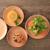 廠家定製批發圓形食具櫸木小托盤點心盤 木製果盤木盤
