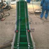 沙袋用圓管護欄皮帶輸送機 都江堰市高效爬坡皮帶機