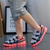 批發情侶款LED燈鞋USB充電男女板鞋休閒鞋七彩發光鞋夜光鞋熒光鞋