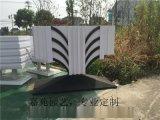 廠家定製 PVC微發泡街道隔離花箱花器花桶戶外臉譜花盆園藝種植箱