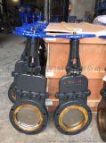 手動暗桿刀型閘閥帶蓋鑄鋼閘板閘閥薄形閘閥