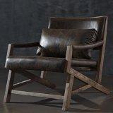 北歐時尚簡約仿古布水曲柳實木沙發椅躺椅休閒椅戶外椅