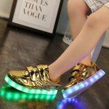 工廠直銷LED燈鞋男女板鞋USB充電七彩發光鞋夜光鞋熒光鞋情侶款運動鞋