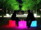 LED發光滾塑四方凳子