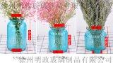 花瓶玻璃透明插花瓶乾花瓶彩色客廳花瓶,玻璃花瓶批發廠家