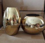 定做 多邊形不鏽鋼鈦金盆景花盆 不鏽鋼鏡面花瓶 耐氧化 耐腐蝕