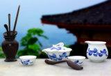 銀銀瓷器醴陵釉下五彩瓷茶具套裝家用陶瓷辦公室茶具商務禮品定製