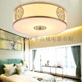新中式燈飾臥室燈客廳餐廳書房茶樓圓形玄關陽臺中式燈具