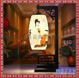 中式復古陶瓷現代簡約田園檯燈具書房創意時尚臥室牀頭檯燈