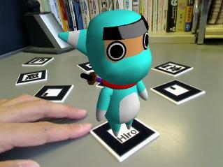 卡片识别ar 增强现实系统 卡片识别