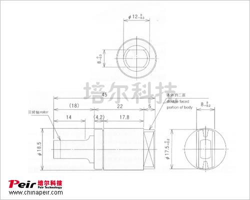 高质量马桶盖,洗衣机盖缓冲液压阻尼器 单向旋转阻尼器pr-v098a图片