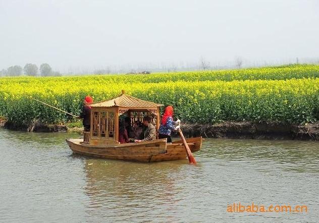 观光单亭木船(千岛菜花景区)