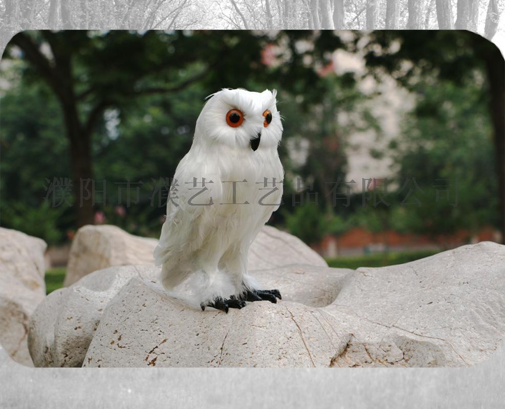 模拟猫头鹰/羽毛工艺/模拟动物/哈利波特猫头鹰摆件/猫头鹰装饰