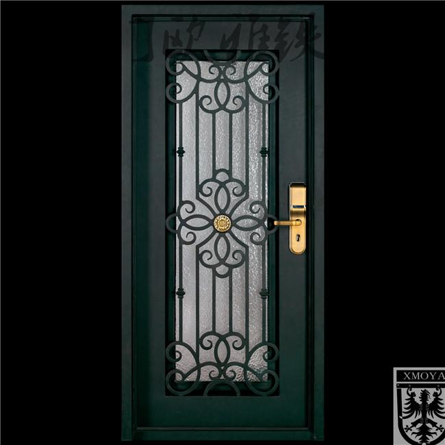 私人定制欧式铁艺门,高端别墅入户门,豪华大铁门
