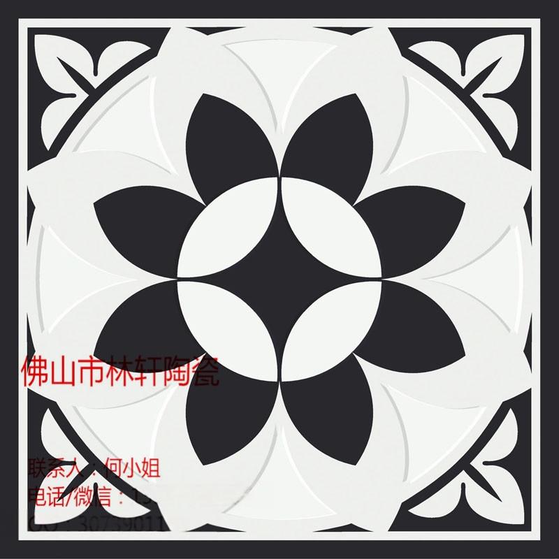 黑白系列 200*200 拼花地板砖