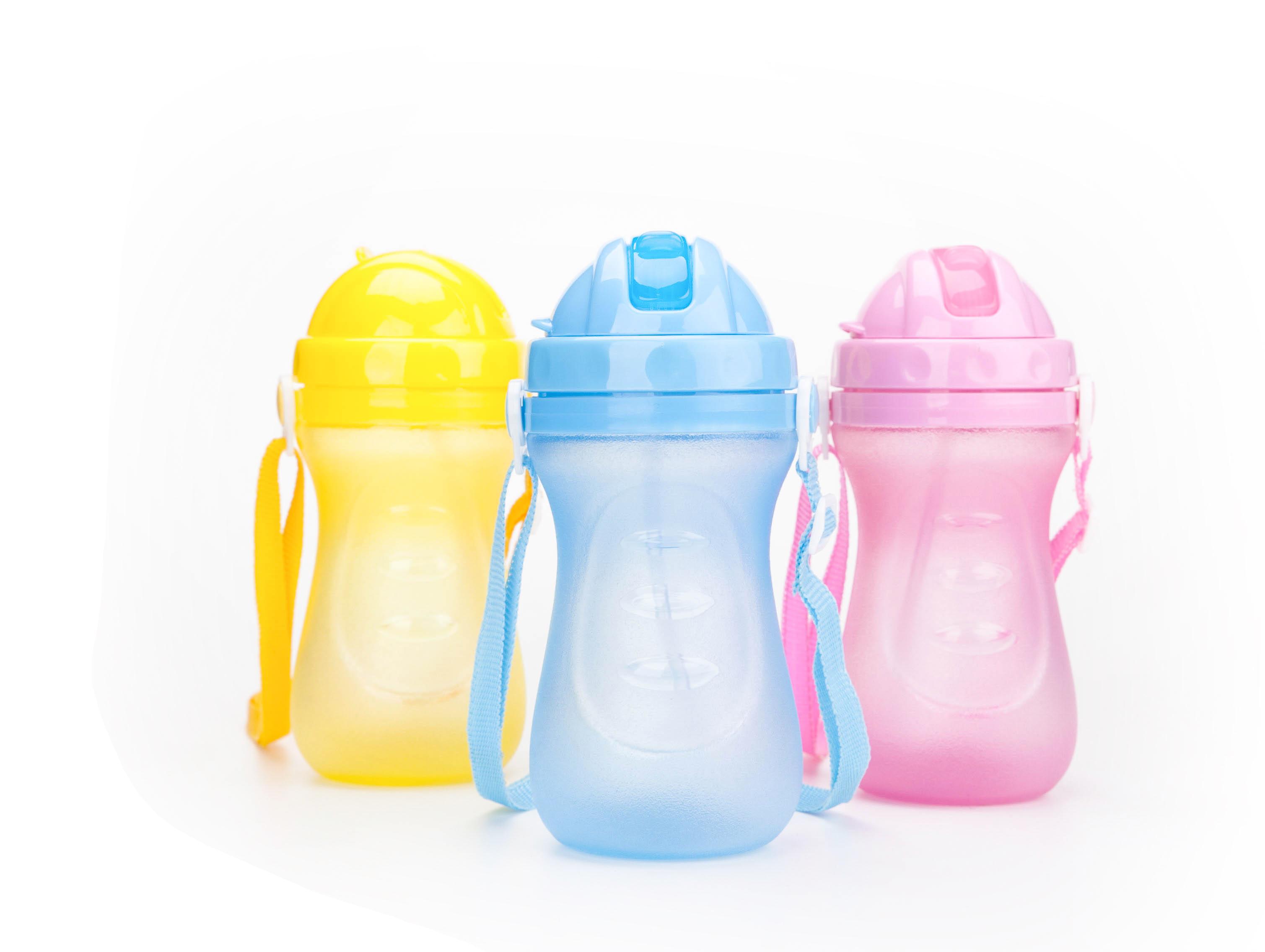腰型儿童吸水壶,卡通吸管杯婴幼儿防漏饮水杯 宝宝喝水杯学生水杯