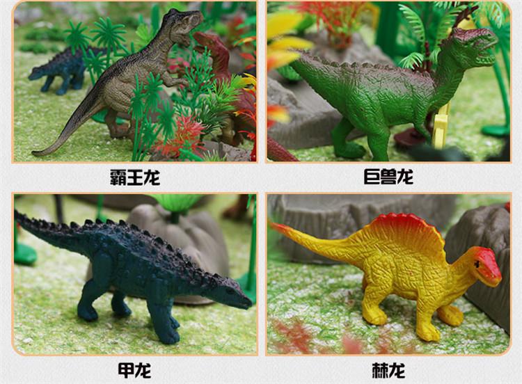 动物霸王龙恐龙模型套装 儿童侏罗纪公园世界玩具 恐龙模型 模拟