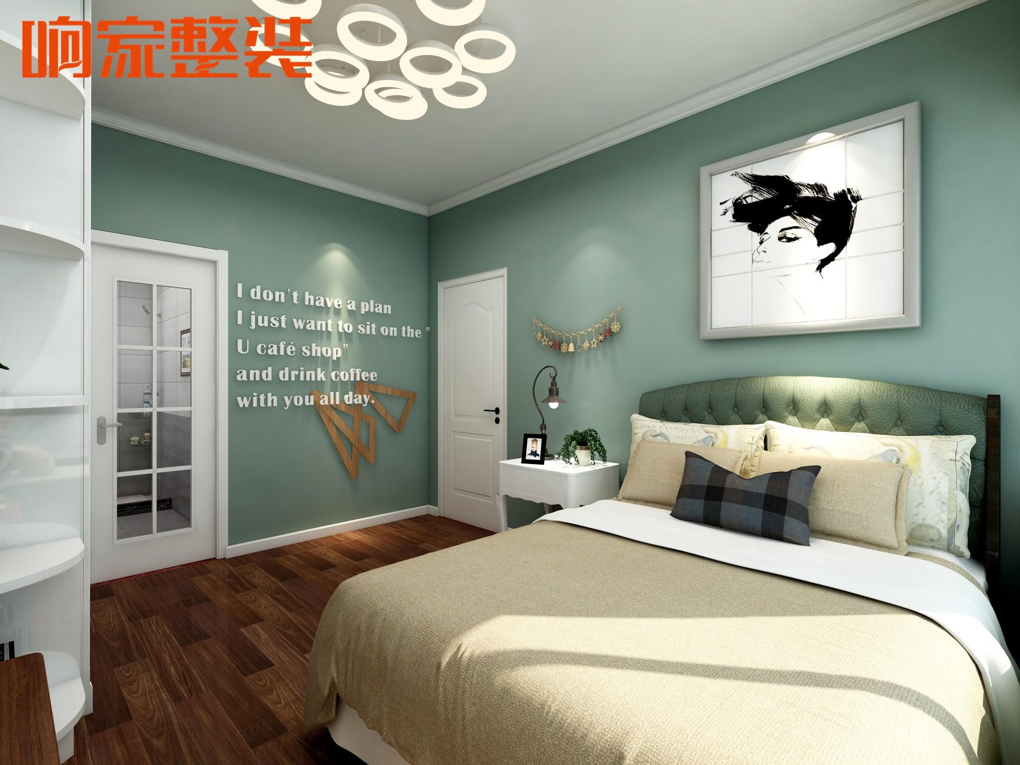 6卧室北欧装修风格响家整体卧室装修效果图.jpg图片