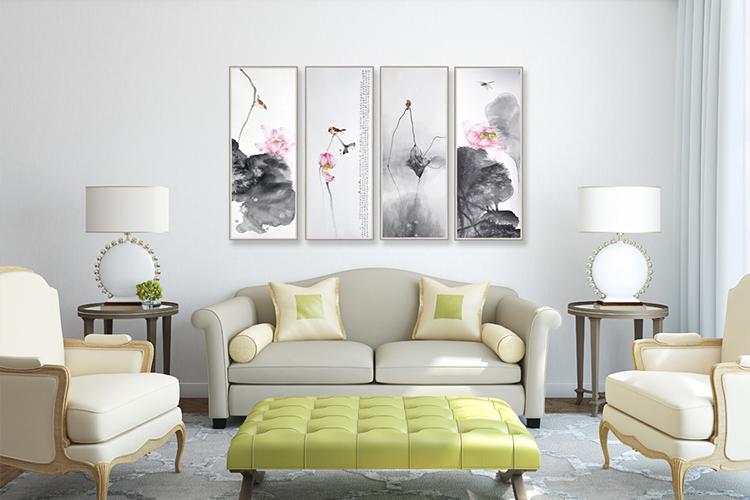 客厅沙发背景墙装饰画卧室餐厅玄关现代简约欧式组合墙画挂画壁画