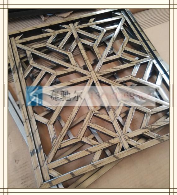 > 款式多样不锈钢花格屏风 镂空雕花屏风     北京青铜不锈钢雕花竹子