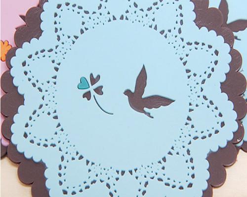 小动物彩色矽胶杯垫