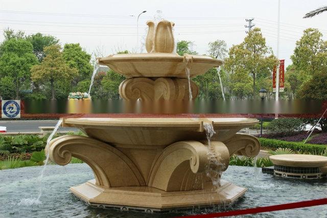 公园雕塑手绘图三视图