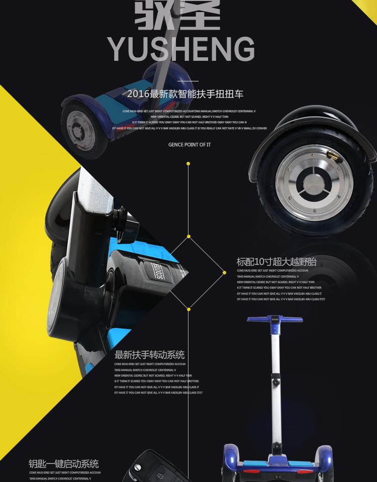 厂家直销驭圣电动滑板车f1迷你代步车成人儿童平衡车双轮创新电动扭扭图片