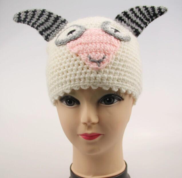 厂家生产批发针织帽子毛线动物帽子卡通儿童成人帽子
