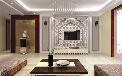 彩虹石品牌瓷砖背景墙 最流行 欧式电视背景墙