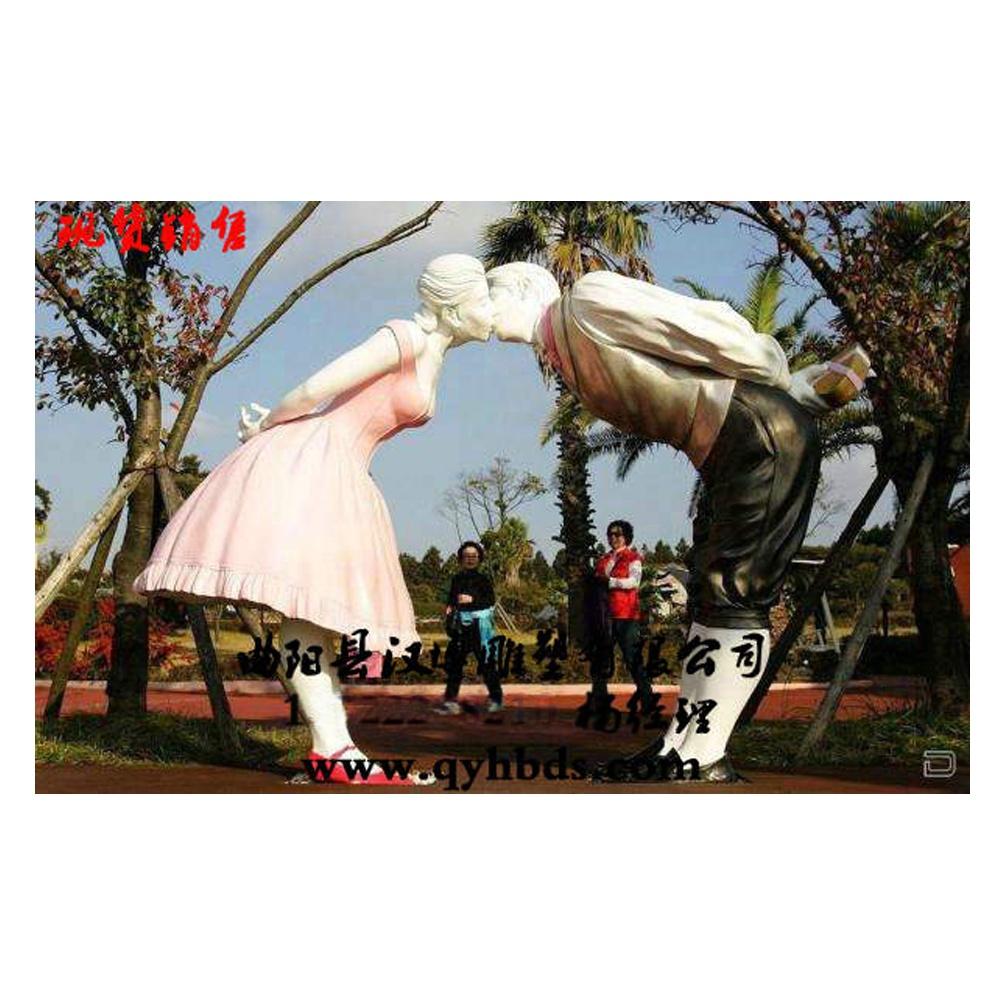 爱情人物雕塑现货 玻璃钢雕塑厂家 园林景区户外小品雕塑