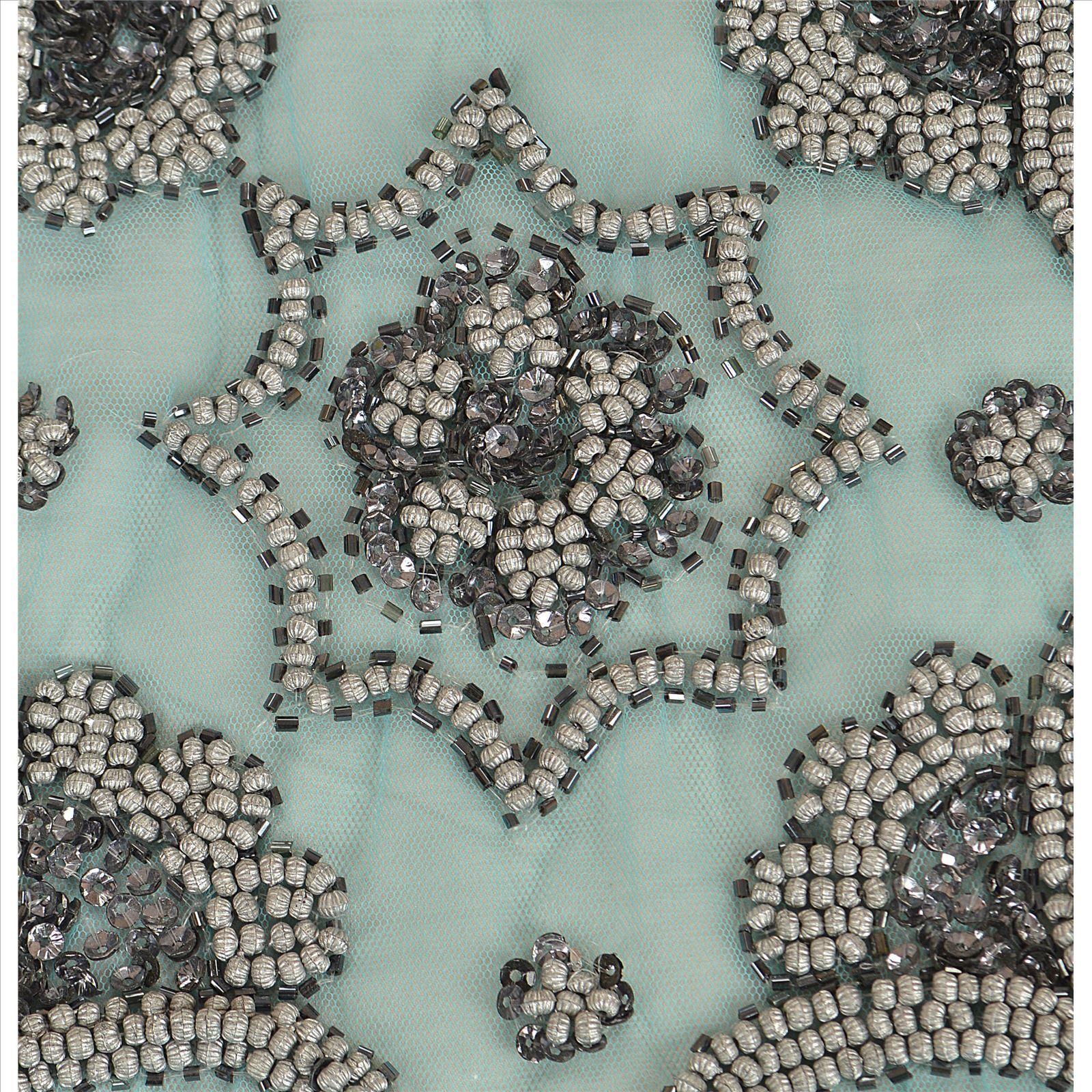 刺绣餐巾 珠绣餐垫 串珠餐垫     可以做圆形,长方形,正方形,花型图案
