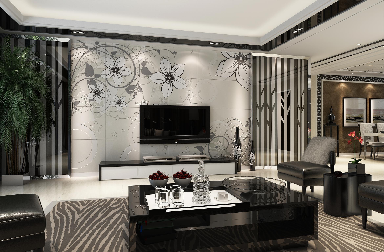 壁画厂家个性定制彩虹石品牌欧式客厅电视背景墙瓷砖