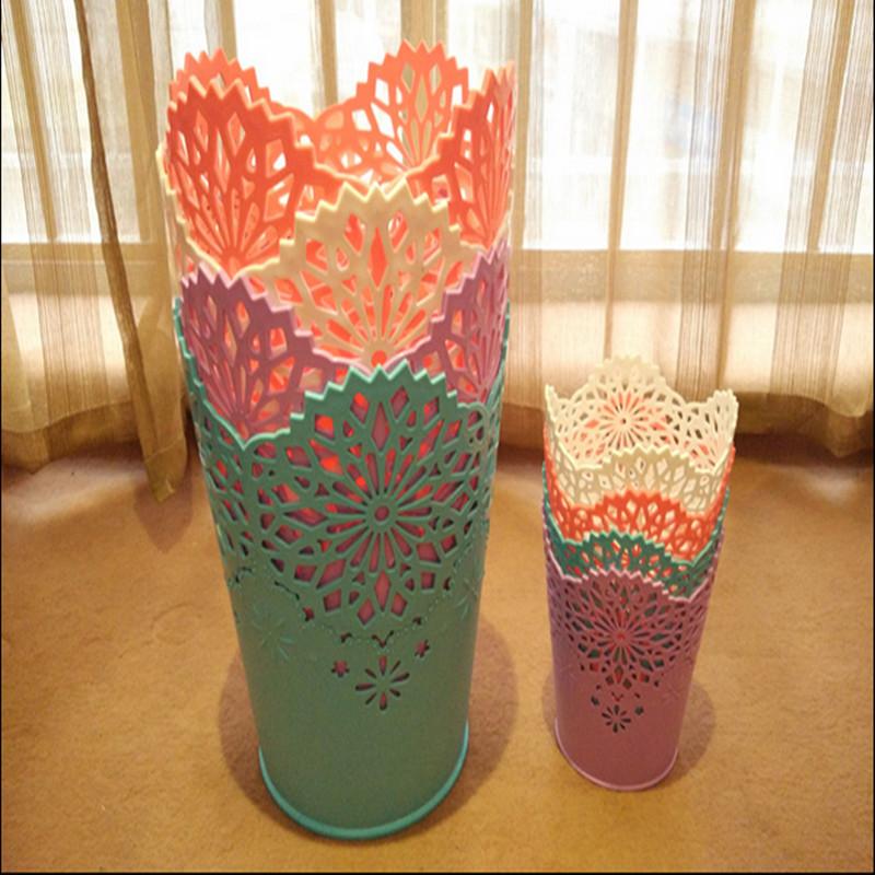 批发时尚创意花边蕾丝镂空垃圾桶 家用办公桌面垃圾桶
