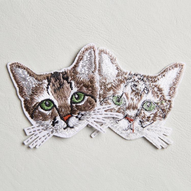 免费设计 绣花厂直供立体可爱动物绣花章 刺绣带背胶补丁布贴