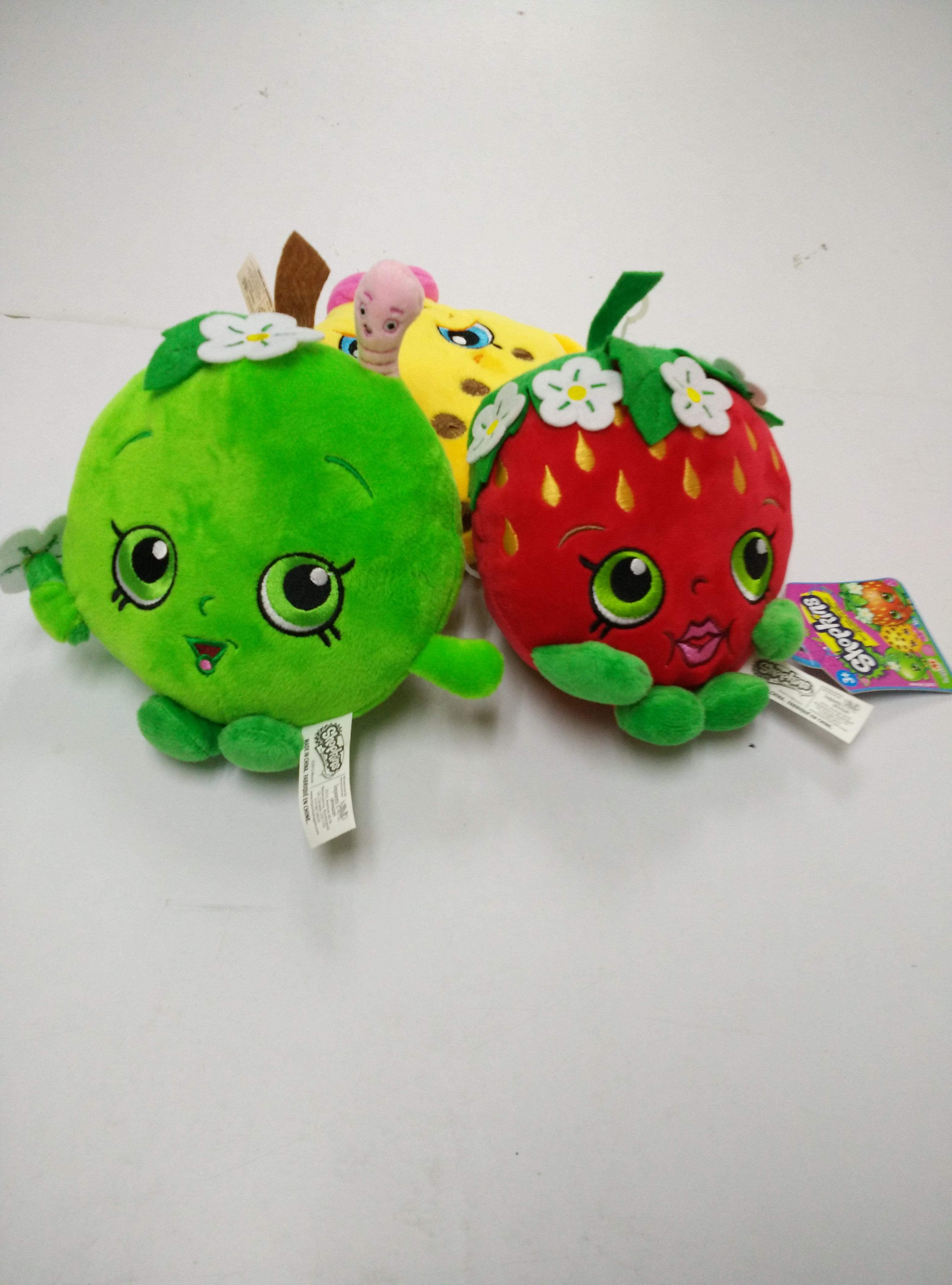 厂家定制外贸原单水果卡通毛绒玩具可爱小苹果 凤梨玩具草莓水果玩具