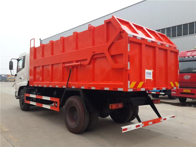 自卸式垃圾车工作原理跟自卸式货车的一样,就是箱体可以自卸,如同翻斗