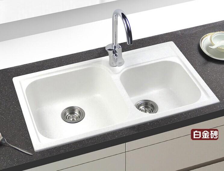 ... 思頓 花崗岩水槽石英石雙槽 廚房洗菜洗碗盆 DS823B